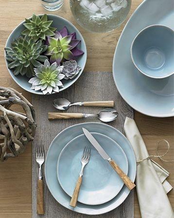 Marin Blue Dinnerware in Dinnerware Sets | Crate and Barrel