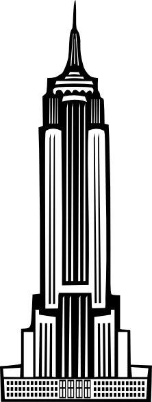 free vector Boort Art Deco Empire State Building clip art