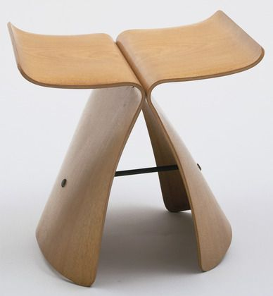 Sori Yanagi. Butterfly Stool. 1956. Molded plywood and metal, 15 1/2 x 17 3/8 x…
