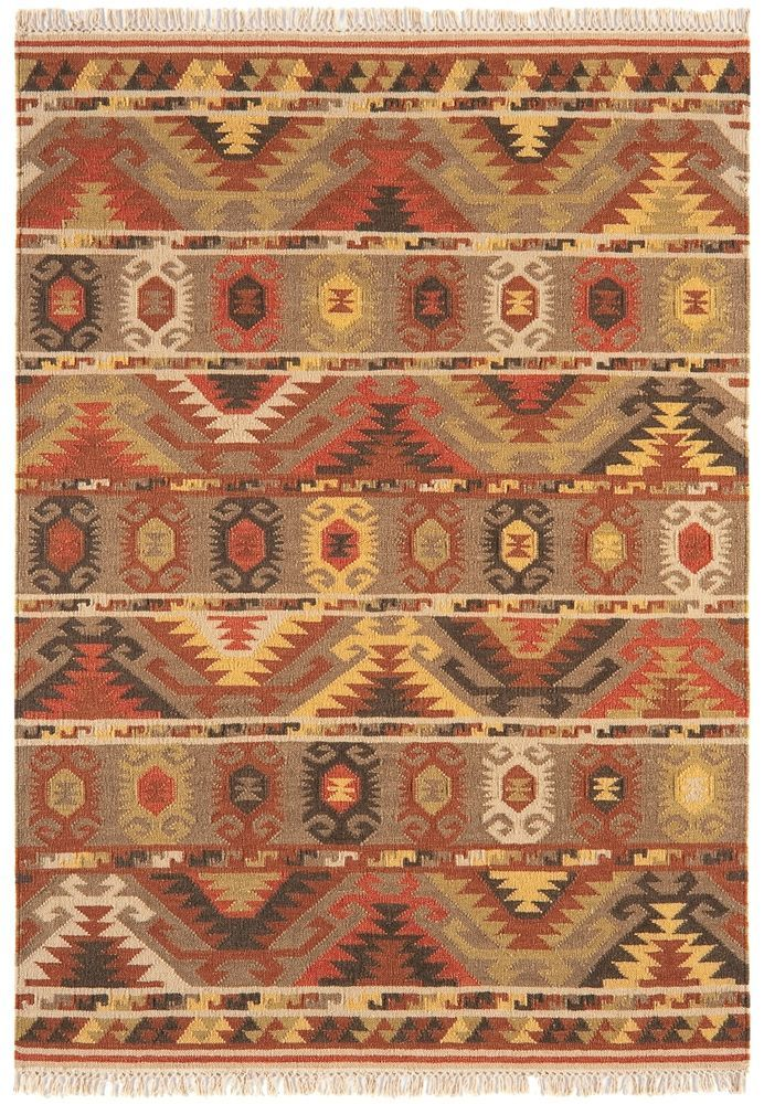 Teppich Wohnzimmer Orient Carpet Persisches Design KELIM ZICK ZACK Wolle Gnstig