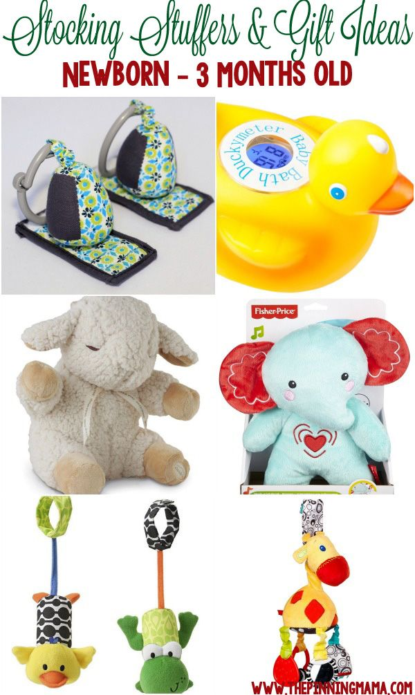 Great gift ideas for a newborn baby, 1 month old baby and 2 month old baby! Perfect for stocking stuffers, Christmas or birthdays!