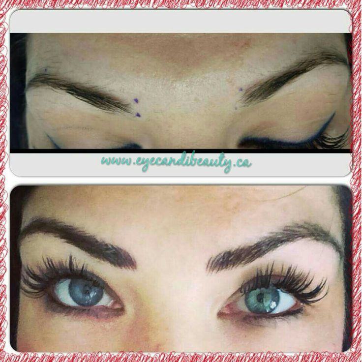 3D Brow Embroidery / microblading / eyebrow feathering www.eyecandibeauty.ca calgary alberta Semi permanent makeup