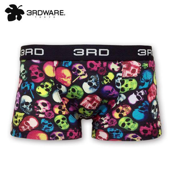 3RDWARE ONLINESHOP(サードウェアオンラインショップ)smoking colorful skull「スモーキングカラフルスカル」3RDWARE ボクサーパンツ