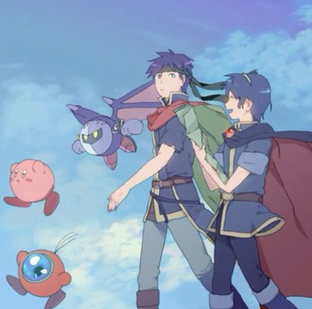 SSBB - Kirby, Meta Knight, Ike, and Marth