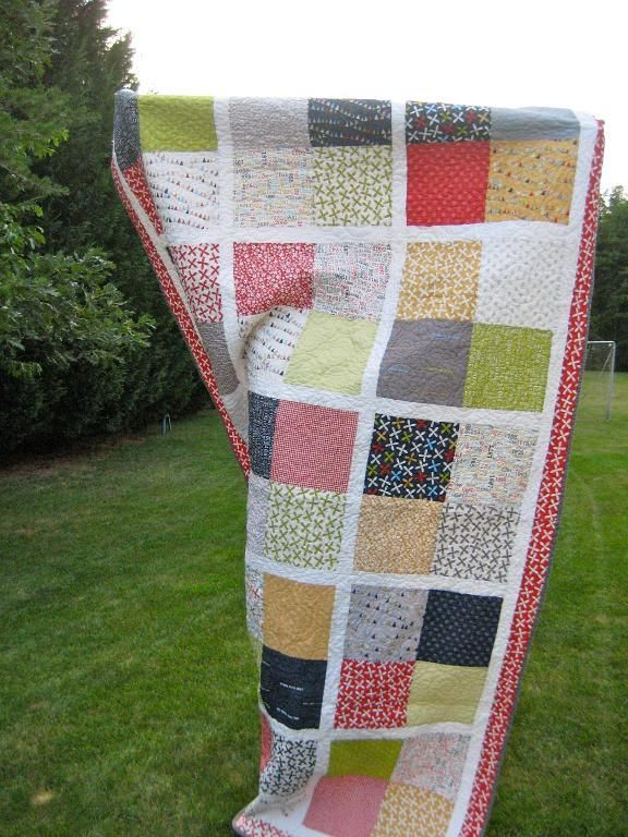 Quilting: Wedding Quilt.layout for the signed squares