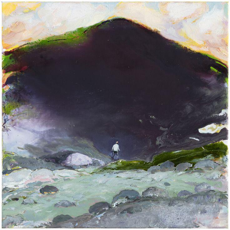 Tuomo Saali, Wanderer in Shadow, oil on canvas, 2017, 50x50cm