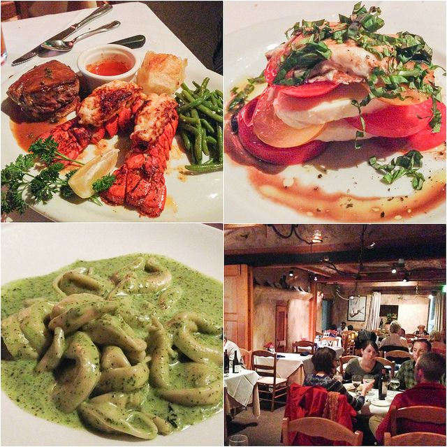 Some of the tasty dishes at Fandango Restaurant in Pacific Grove, California