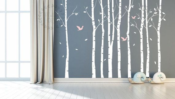 1000 ideas about tree wall murals on pinterest tree for Birch tree mural