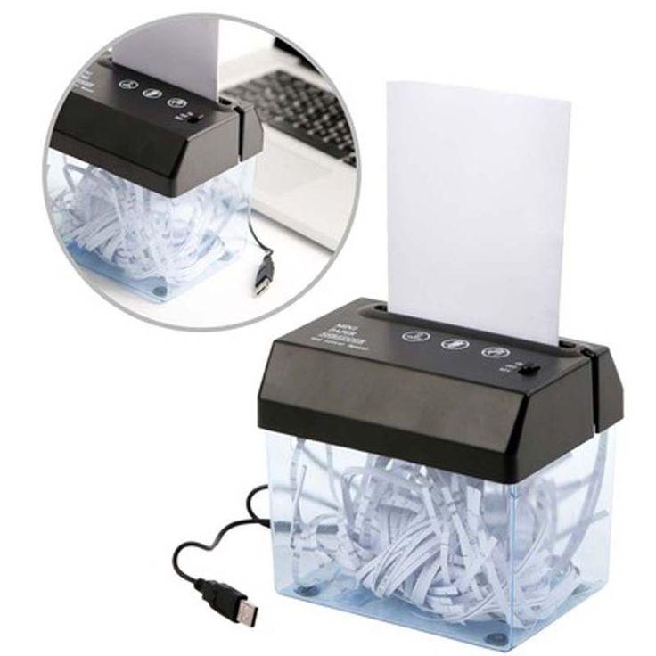 Trituradora de papel USB