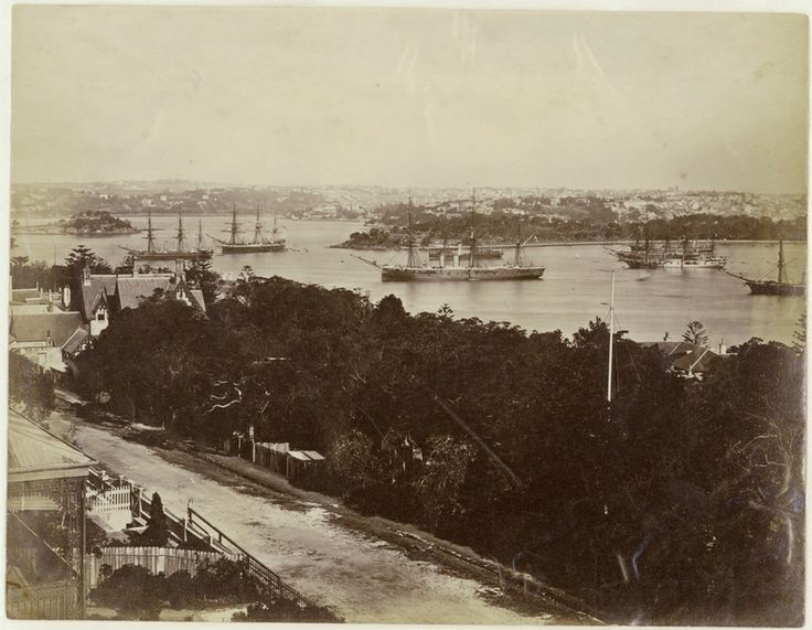 Visit of the Royal Navy's Detached Squadron, Sydney Harbour, 1881. Mitchell Library, State Library of New South Wales: http://www.acmssearch.sl.nsw.gov.au/search/itemDetailPaged.cgi?itemID=421257