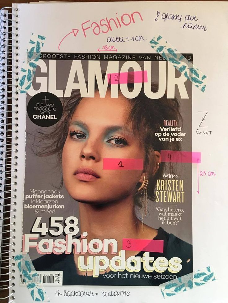 Cover tijdschrift 1: Glamour