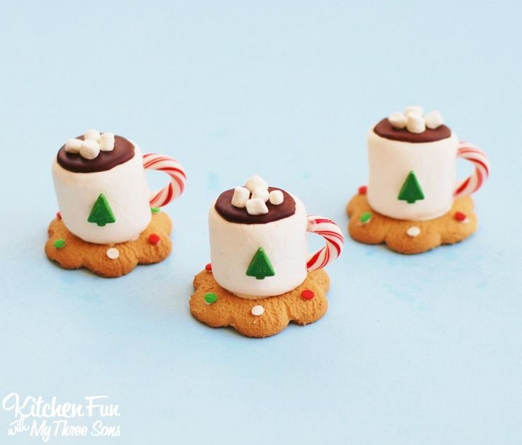 Christmas Hot Chocolate Marshmallow Mug Treats from KitchenFunWithMy3Sons.com