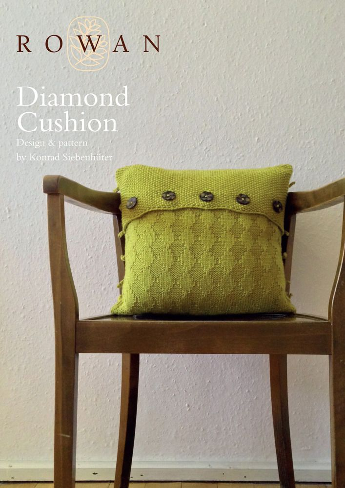 Diamond Cushion in Rowan Pure Wool Worsted · Knitting Patterns FreeFree ... & 82 best Cushions - Knitting and Crochet Patterns images on ... pillowsntoast.com