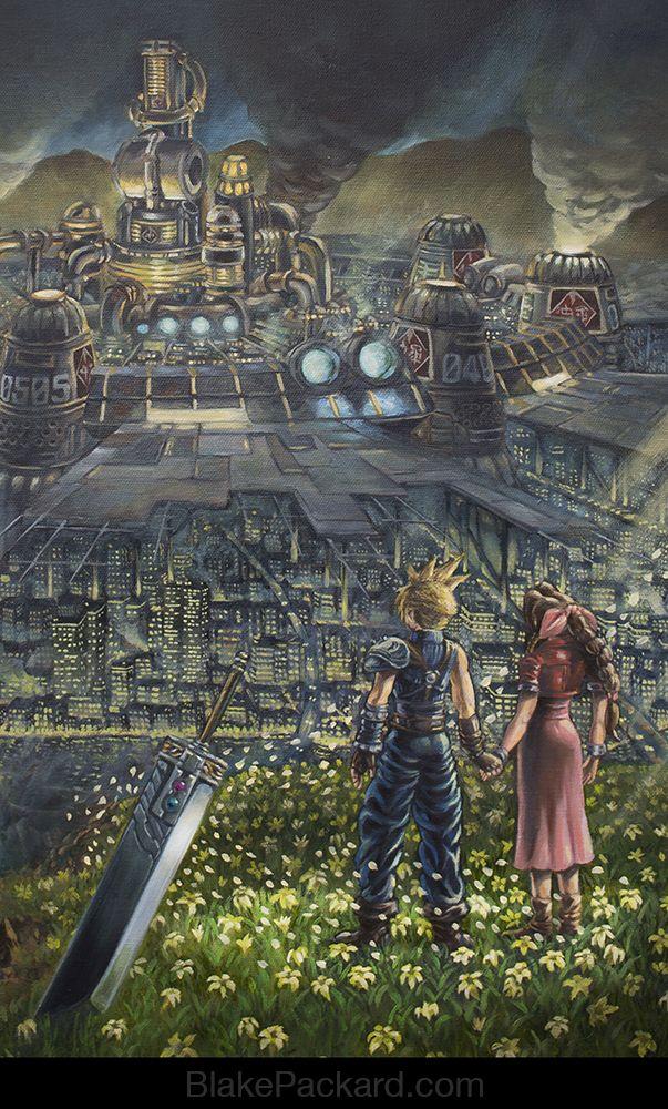 Video Game Oil Paintings - Final Fantasy VII