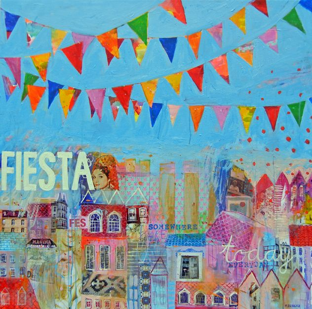 Fiesta Somewhere Everyday - http://www.contemporary-artists.co.uk/paintings/fiesta-somewhere-everyday/
