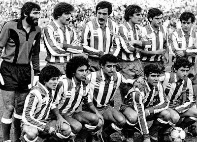 EQUIPOS DE FÚTBOL: ATLÉTICO DE MADRID contra Real Madrid 23/01/1983