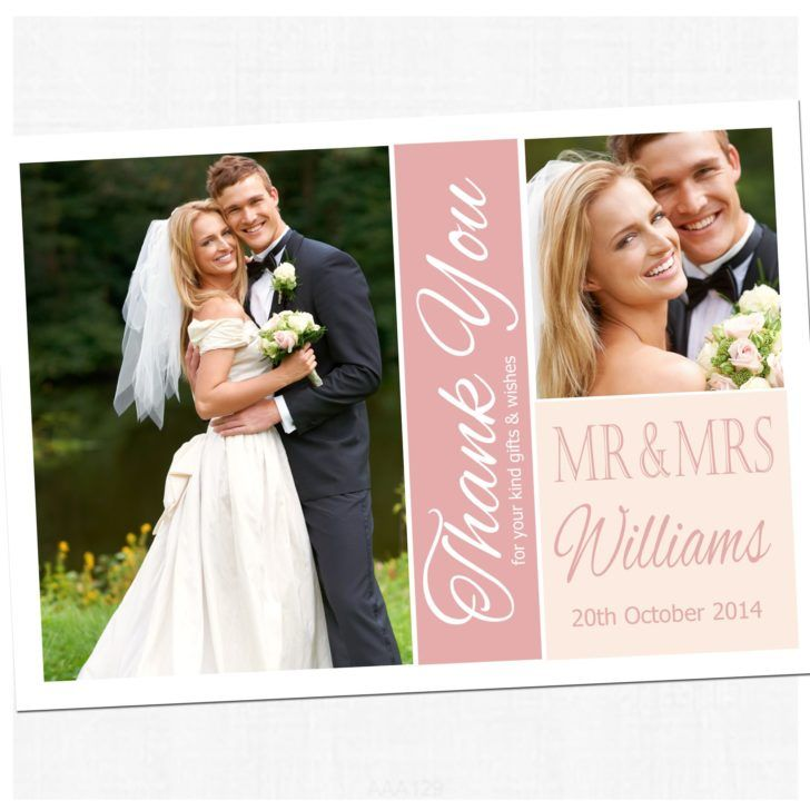 free printable wedding thank you cards with photo%0A Wedding  Affordable Wedding Thank You Card with Pics Pastel Wedding Thank  You Color Template
