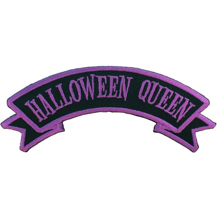 Now while this is a title I've been given on more than one occasion, I'm sure there's more than one Halloween Queen out there!This embroidered iron on patch is a great pairing with ...