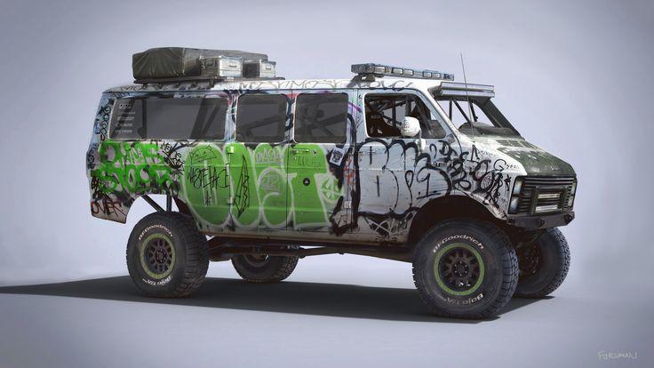 ArtStation - Racing Rat Van, Nick Foreman