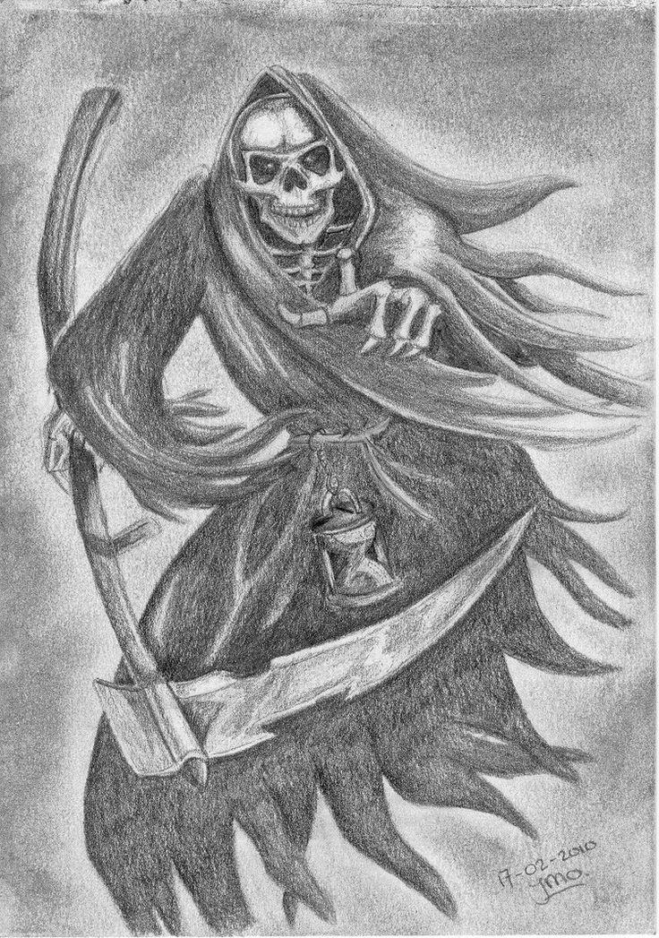 Grim Reaper Death Drawings