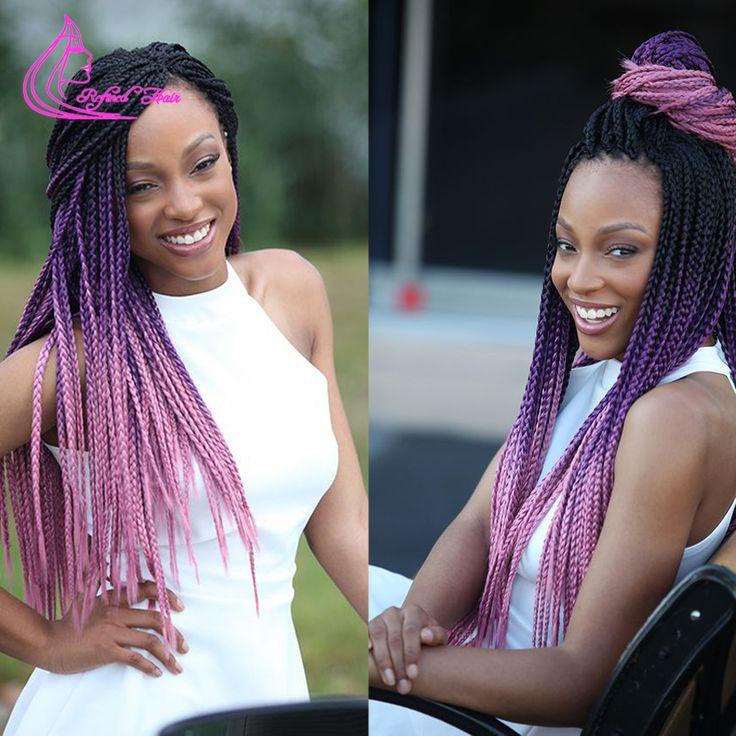 "24"" 10 Colors Expression Braid 100G Ultra Kanekalon Expression Braiding Hair Synthetic Crochet Box Braids Hair Jumbo Braid"