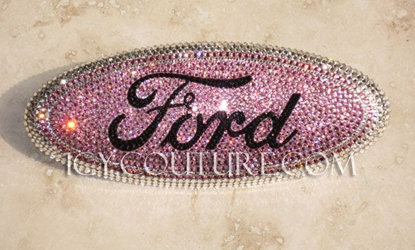 ICY-Couture.com: Read Reviews! Swarovski Crystals Pink FORD Bling emblems. Select Your Set. Whats your colors? Lifetime Warranty on our work.