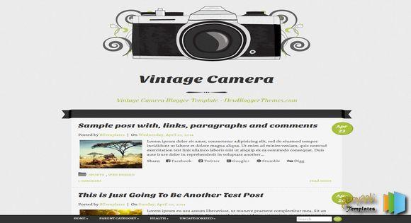 Vintage Camera Responsive Blogger Template blogger templates free blogger templates. Blogger free templates, 2014 blogger templates seo blogger themes free 2014