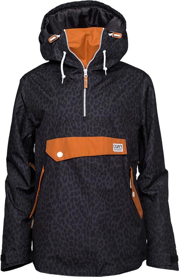 CLWR Colour Wear Recruit Anorak Women's Snowboard Jacket, M, Black Leo