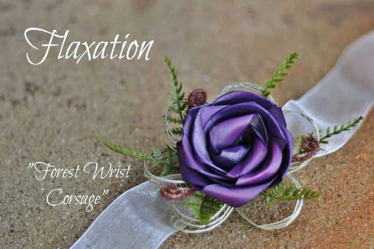 Forest wrist corsage by Flaxation  www.flaxation.co.nz