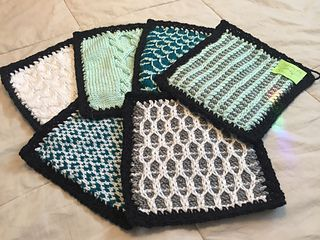 I have already made this afghan to use for teaching, but I found it difficult to use as a whole. So I am knitting each block again but will not combine them, so I can handle each block individually...