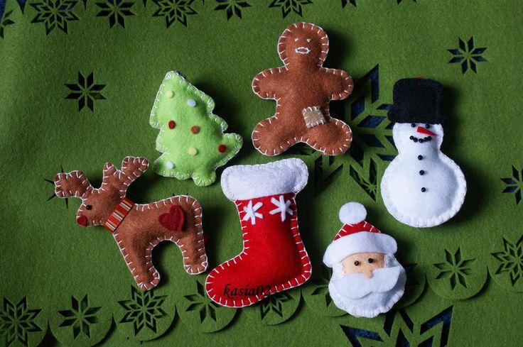 dekoracje świąteczne z filcu, Christmas felt