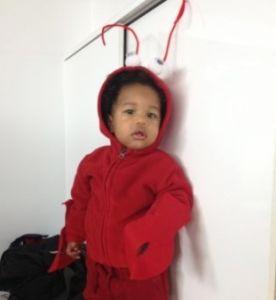 DIY disfraz de langosta para niño