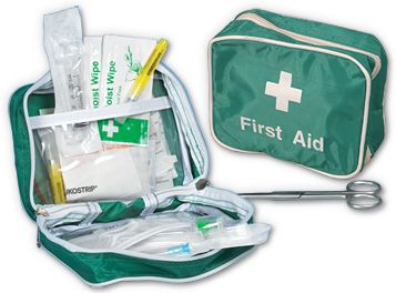 Basic Foreign Travel First Aid Kit in Nylon Pouch