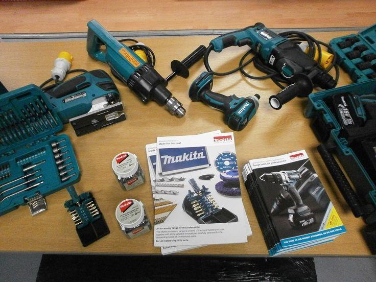 Makita power tools display Demo Day 6/11/14