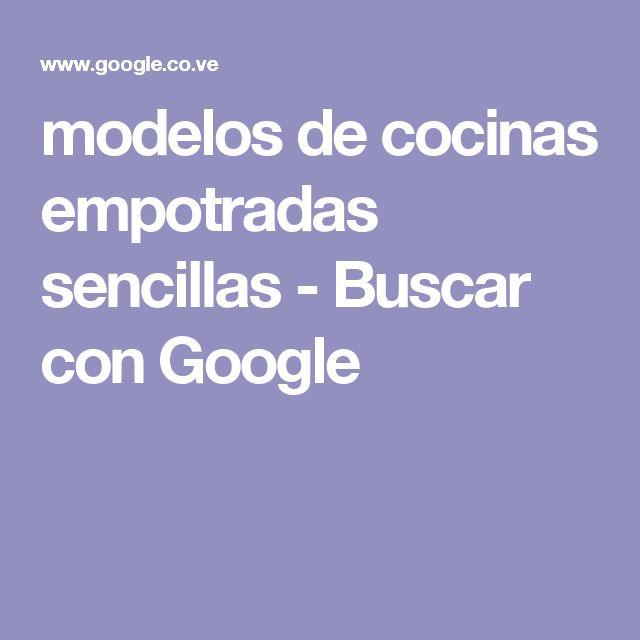 modelos de cocinas empotradas sencillas - Buscar con Google