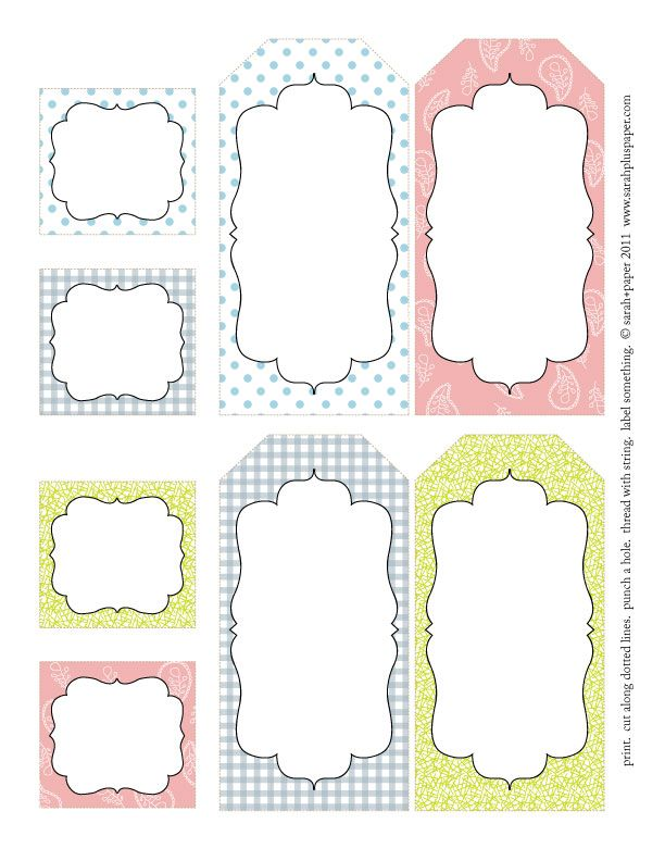 Free Mailing Label Template 115 Best Printable Tags Images On Pinterest  Free Printables .