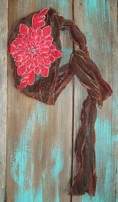 Cowgirl Flower Headwrap