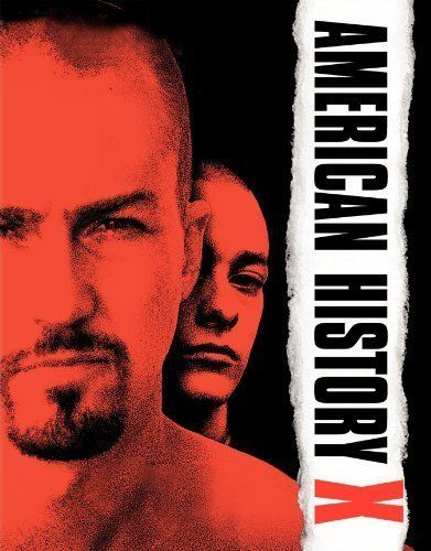 "American History X (1998) Poster - ""Intense drama. Tour de Force for Norton. Keep the Kleenex handy."""