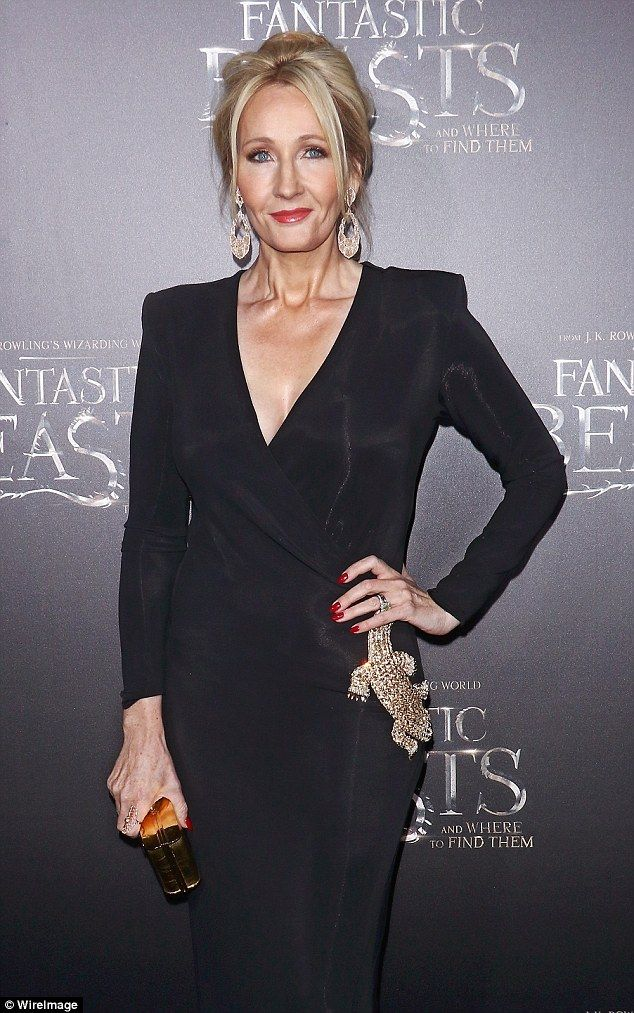 2016: Looking incredible in a vampy black wrap dress and loose up-do at the new movie's US...