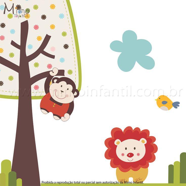 Quarto do bebê menino – Adesivos Safari http://www.mimoinfantil.com.br/quarto-de-bebe-menino-adesivos-safari/
