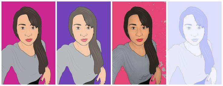 Collage caricatura *Modelo Julieth F