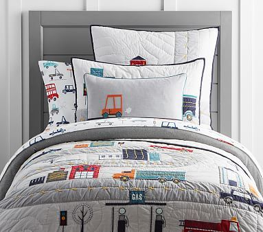 Things That Go Quilted Bedding #pbkids