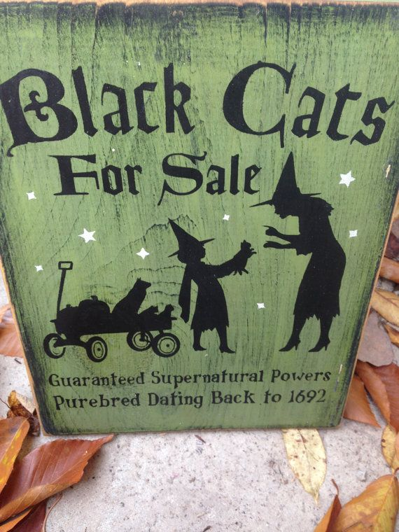 READY TO SHIP Black Cats for Sale Witch Wiccan by thehomespunraven
