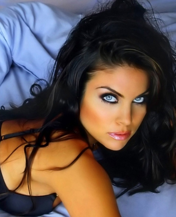 Sexy girls with blue eyes