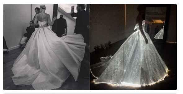 Claire Danes' dress actually lit up!