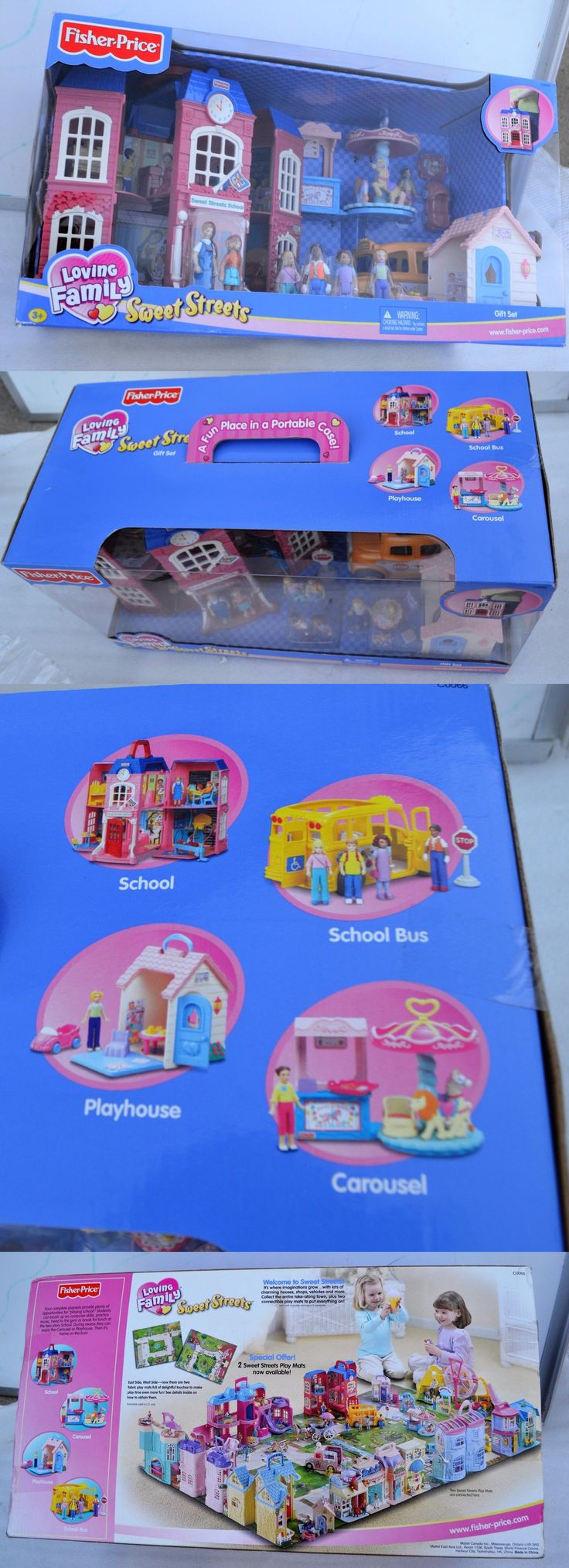 Dollhouses 20898: New 2003 Fisher Price Loving Family Sweet Streets Gift Set School Bus Playhouse -> BUY IT NOW ONLY: $199.95 on eBay!