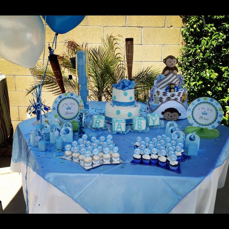 Noah's Baby Shower #babyshower #boybabyshower #decorations #blue #princetheme