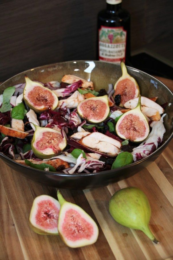 Smoked Chicken Salad with Figs  #smoked #bbq #barbecue #grill #chicken