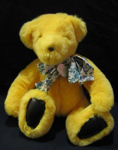 Victorias Secret Yellow Teddy Bear Plush By Gund Vintage 1992 11 Inches  Made By Gund Exclusively. Funny ValentineTeddy ...
