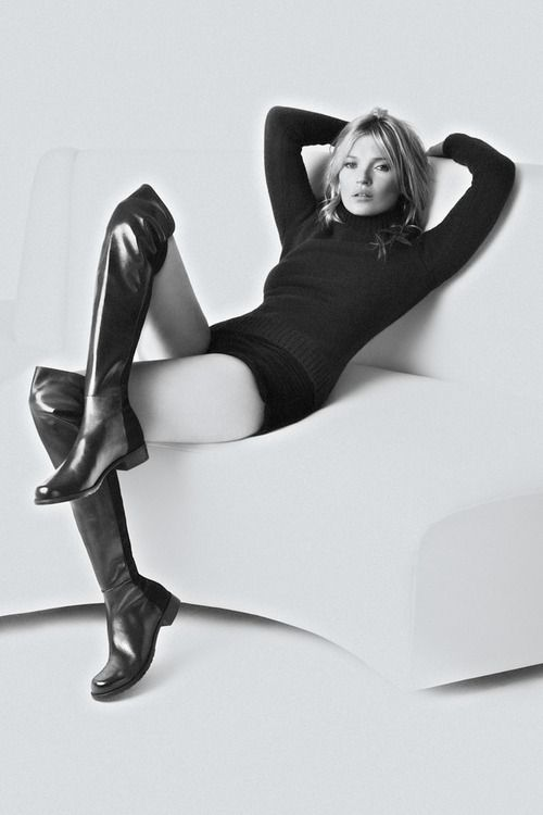 Kate Moss by Mario Testino for Stuart Weitzman F/W Campaign 13.14